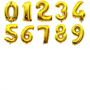Number-shaped balloons 0-9 - Miss Decorate