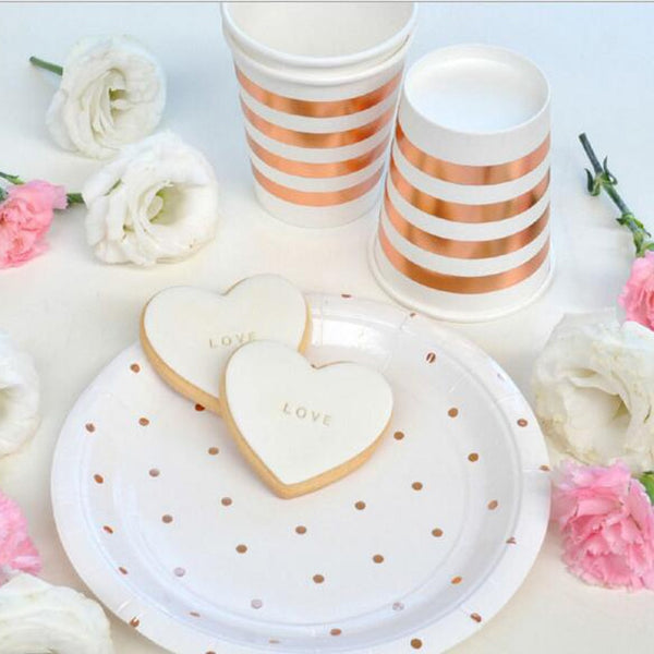 Rose Gold Dots - Plates - Miss Decorate