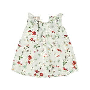 White Floral Baby Top (No. 838, Fabric No. 12)