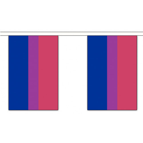 Bisexual Pride Flag Bunting Small (3m x 10 flags)
