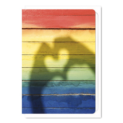 Rainbow Heart - Gay Greetings Card