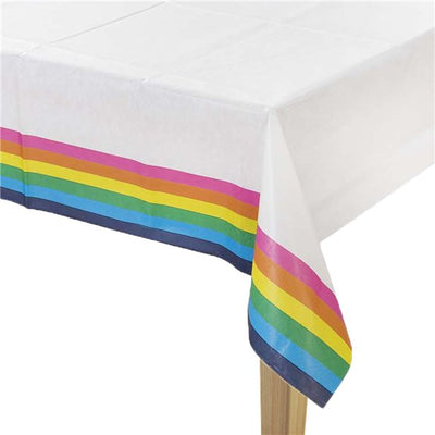 Gay Pride Rainbow Paper Table Cover
