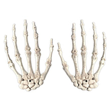 Top 2pcs 1 Pairs Plastic Skeleton Hands Haunted House for Halloween Decoration Halloween Props
