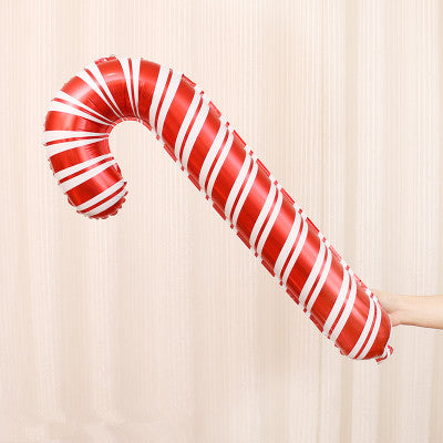 1pcs 32 inch foil balloons Red Candy Cane Merry Christmas balloon decoration inflatable air balls Birthday party supplies Xmas
