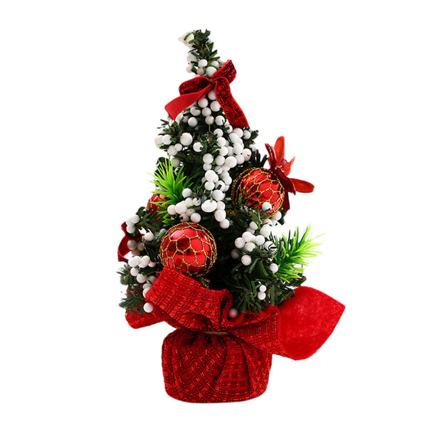 20cm Merry Christmas Tree Bedroom Desk Decoration Mini Xmas Christmas Tree Desktop Ornament Toy Doll Office Home Children Gift