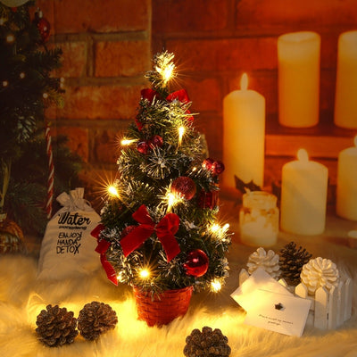 40CM Christmas Tree Warm Light New Year Xmas Tree Ornaments for Home Party Decoration Merry Christmas Table Decor Best Kids Gift