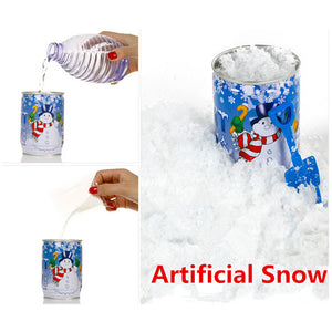 Instant Xmas Magic Snow Powder Reusable Artificial Christmas Decoration Cans Snow Powder