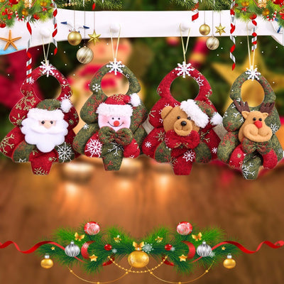 Navidad Santa Claus Pendant Christmas Ornaments Festival Party Home Decor Christmas Decor Supplies Novelty Gifts For Children