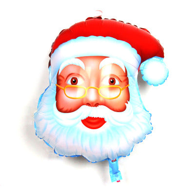 Santa Claus foil balloons merry Christmas party decoration helium balloon Christmas Tree big inflatable toy Xmas candy cane star