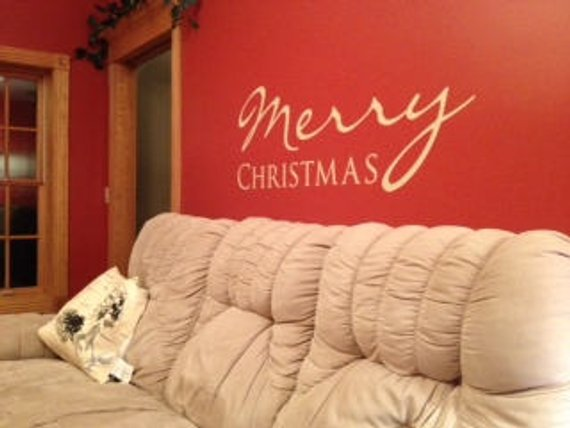 Christmas Decor - Christmas Decorations - Holiday Decor - Holiday Decorations - Merry Christmas - Wall Decals - Wall Stickers - Wall Art