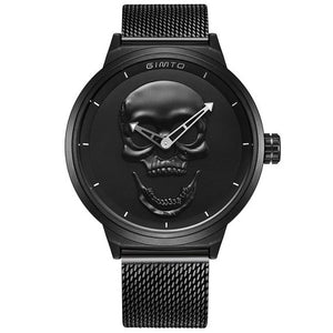 Men's 3D Skull Watch - Luxury Steel Gold, Black Vintage Quartz Men's Watch, Men Gift Watch, Day Of The Dead Gift Watch, Free Shipping