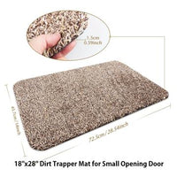 "Indoor Doormat  Super Absorbs Mud Dirt Trap Door Mats 18""x28"" by Beau Jardin"