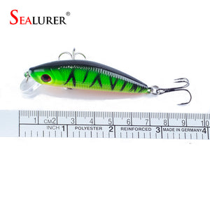 SEALURER 10x Fishing Lure Sinking Minnow With 2 Hooks 7cm/8.5g - Dazam
