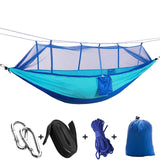 2 Person Camping Parachute Hammock With Mosquito Net - Dazam