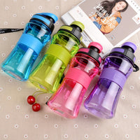 550ML Leak-Proof Plastic Water Bottles With Cover Lip Filter BPA Free - Dazam