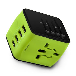 International Universal All-in-one Power Adapter with 4 USB - Dazam