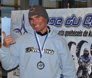 Starkites Pro Rider William Acosta, Champion in Snowkiting.