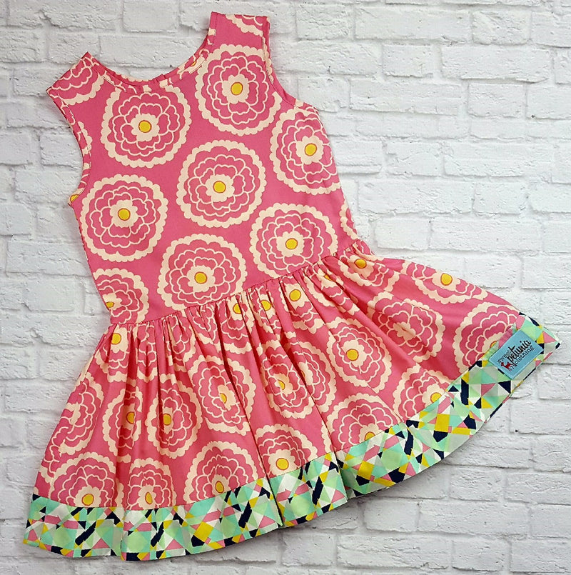 Pink Blossom Drop Waist Dress