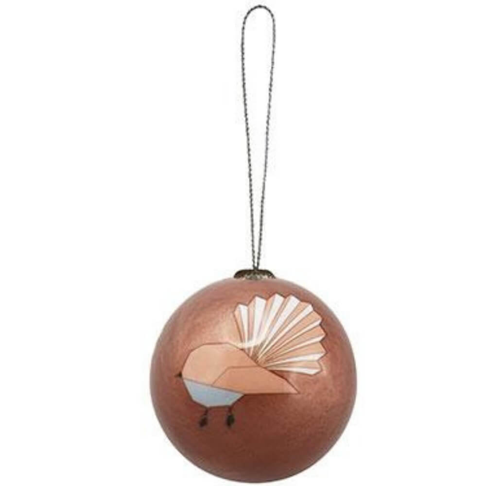 Xmas Ball Geo Fantail Hanging Decoration