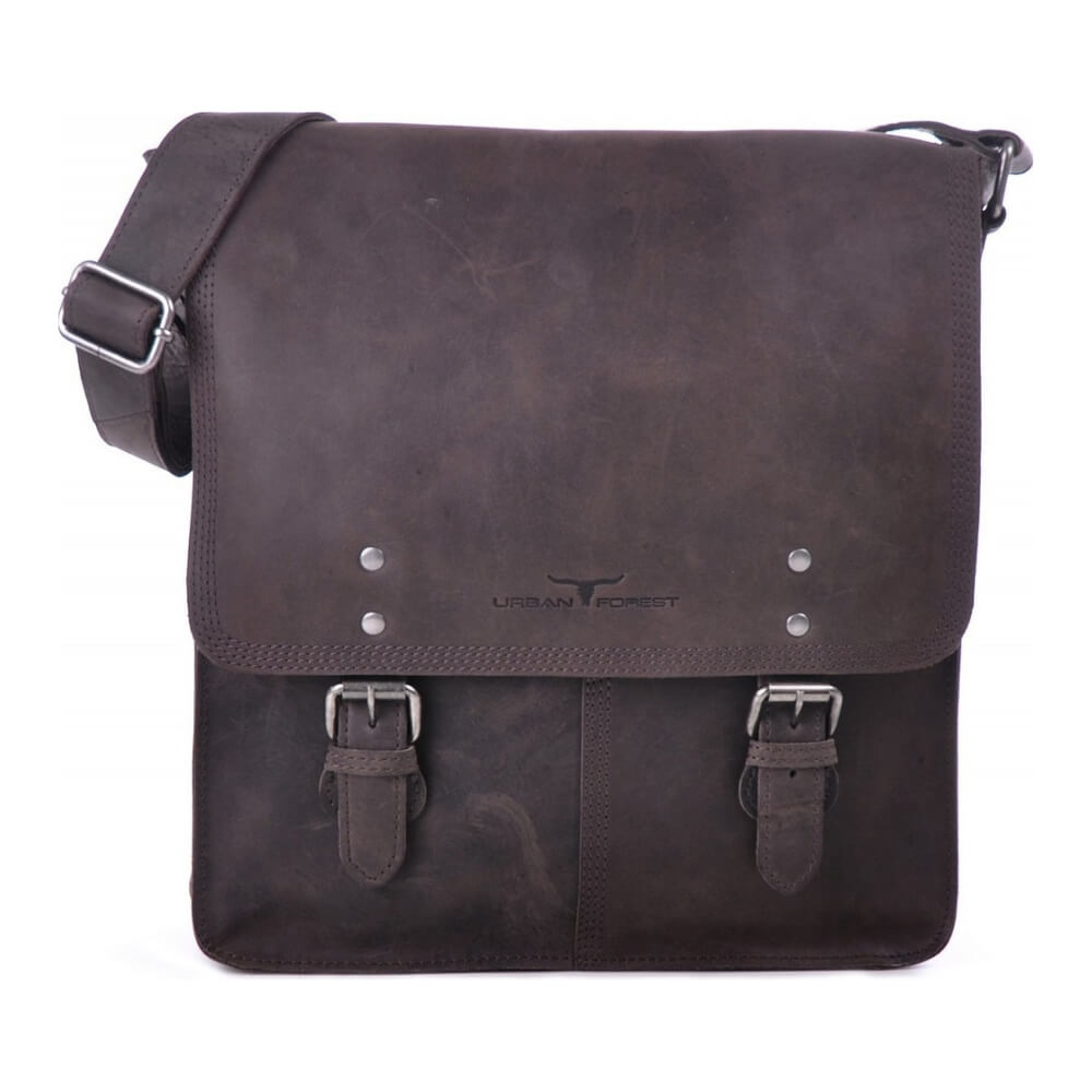 Urban Forest Leather Satchel Bag - Chocolate