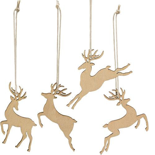 24/Box, Reindeer Ornaments - Old-Time-Shoppe