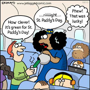 "Jetlagged Comic Cartoon ""St Paddy's Day"" 18010 Digital Download"
