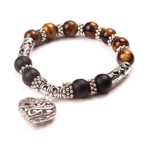 Women Bracelets Bangles Heart Jewelry