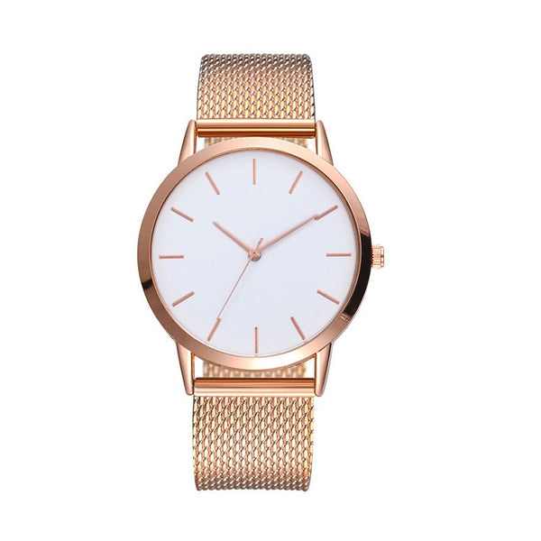 Gold Silver Ladies Watch Women's Top Brand Luxury Casual