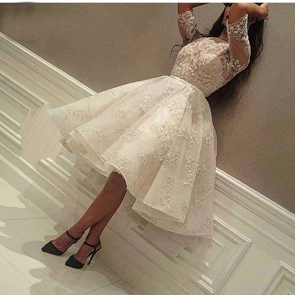 Fashion Ivory Short Prom Dress Party Gowns 2019