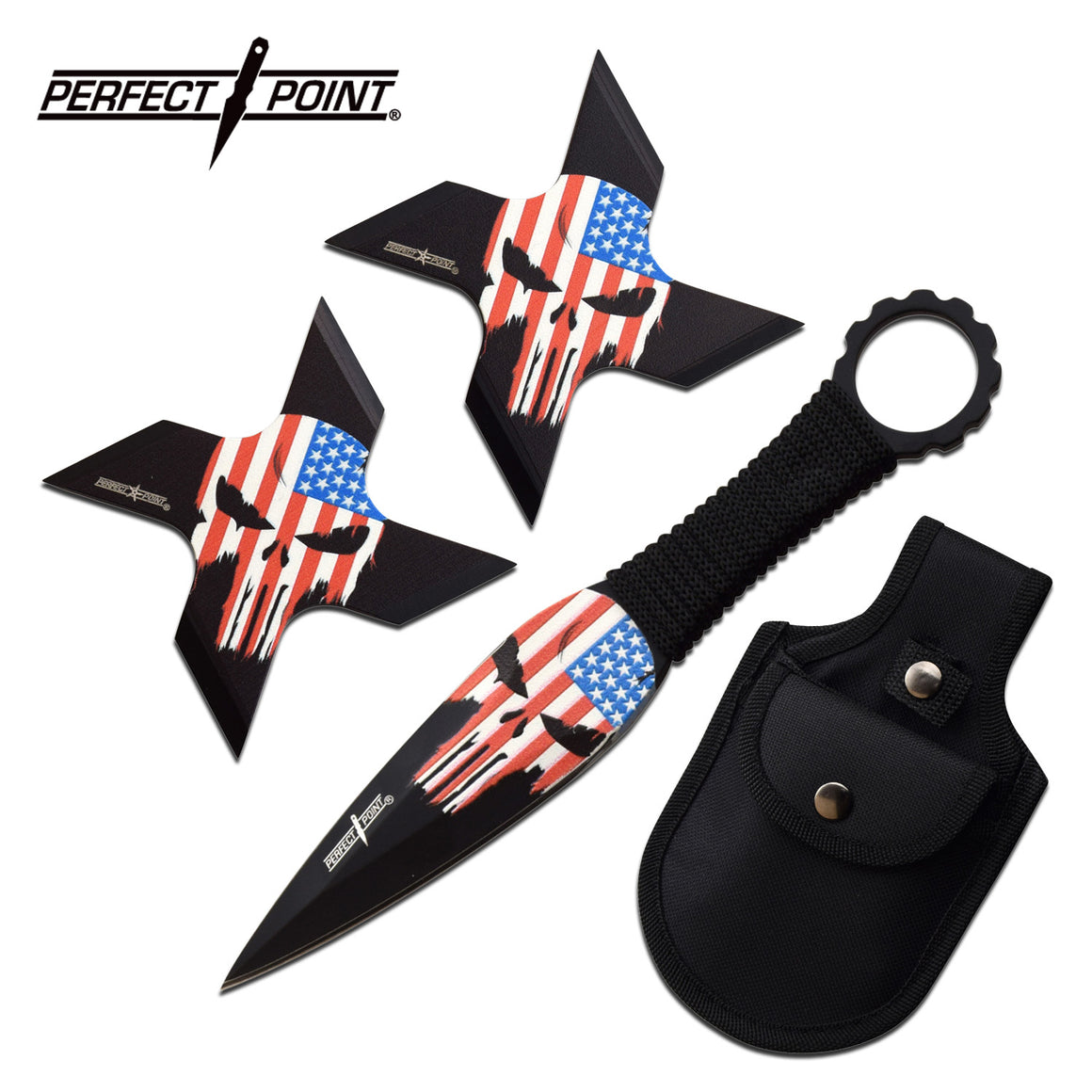 Perfect Point PP-127-3B Throwing Star Set
