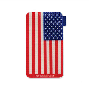 American flag inspired cell phone grip