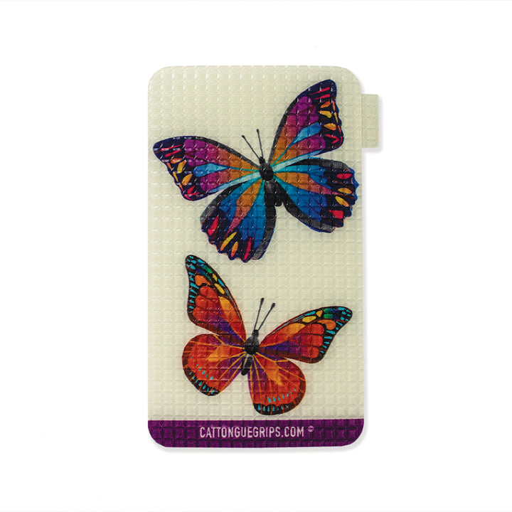Butterfly inspired cell phone grip for your mobile device