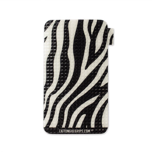 Zebra inspired cell phone grip