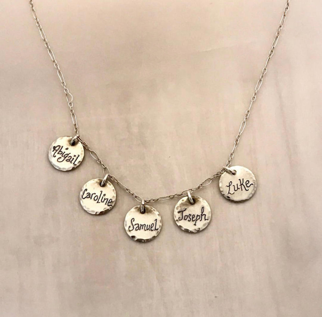 MULTI CHARM NAME NECKLACE