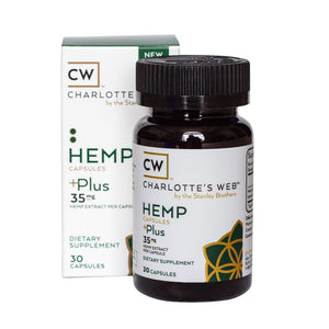 Hemp Plus Infused Capsules 35 MG, 30 Count by Charlotte's Web
