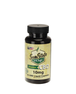 Full Spectrum Liquid CBD Capsules 10 MG by Sunstate Hemp