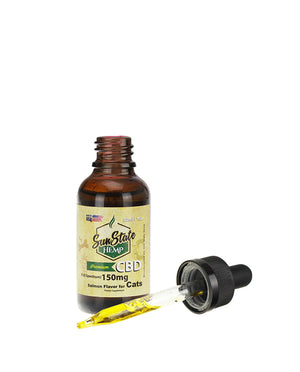 Full Spectrum Salmon Flavored Cat Tincture 150 MG by Sunstate Hemp