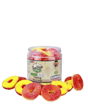 Sun State Hemp Gummy Peach Rings 750 MG