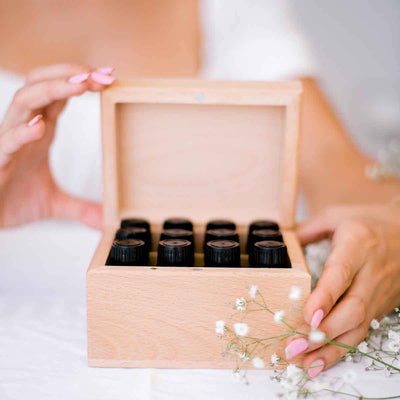 ECO. Wooden Storage Box - fits 12 Essential Oils