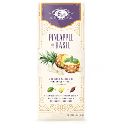 Pineapple and Basil Chocolate Bar