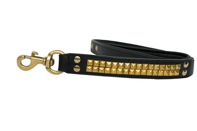 Clark Addition Genuine Black Out Leather Leash