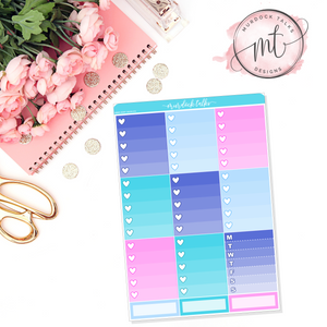 MerBabe Ombre Heart Checklists