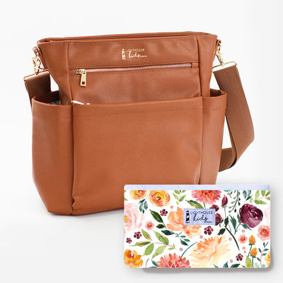 The Artist Bag - Camel + Late Bloom Change Pad Bundle