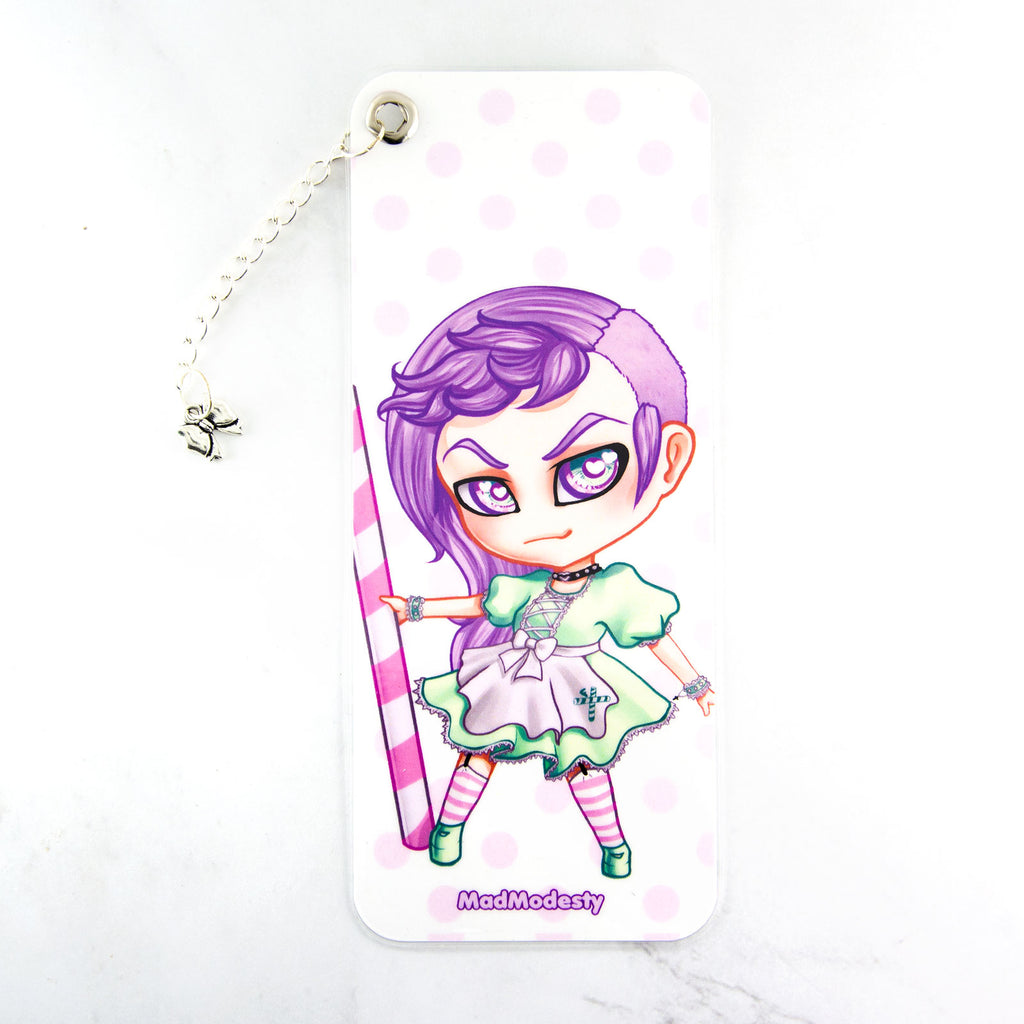 Frappuccino maid bookmark with charm