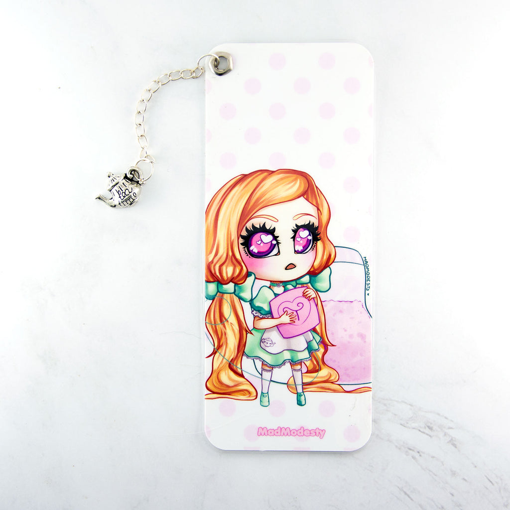 Tea maid bookmark with charm