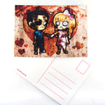 Zombie couple postcard