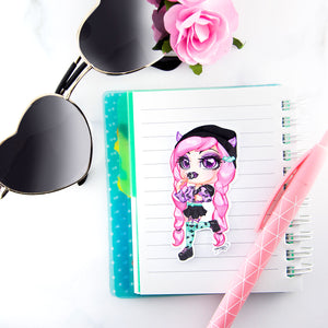 Pastel Goth girl sticker