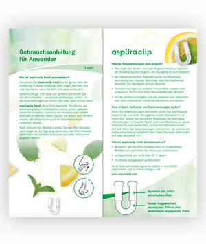 aspUraclip® Mini-Inhalator fresh - aspUraclip - ätherische öle - aromatherapie - inhalator - einatmen