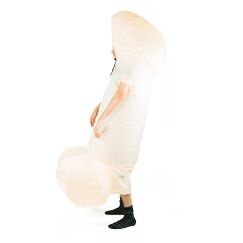 White Inflatable Willy Costume
