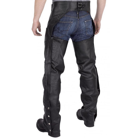 Viking Cycle Plain Leather Motorcycle Chaps